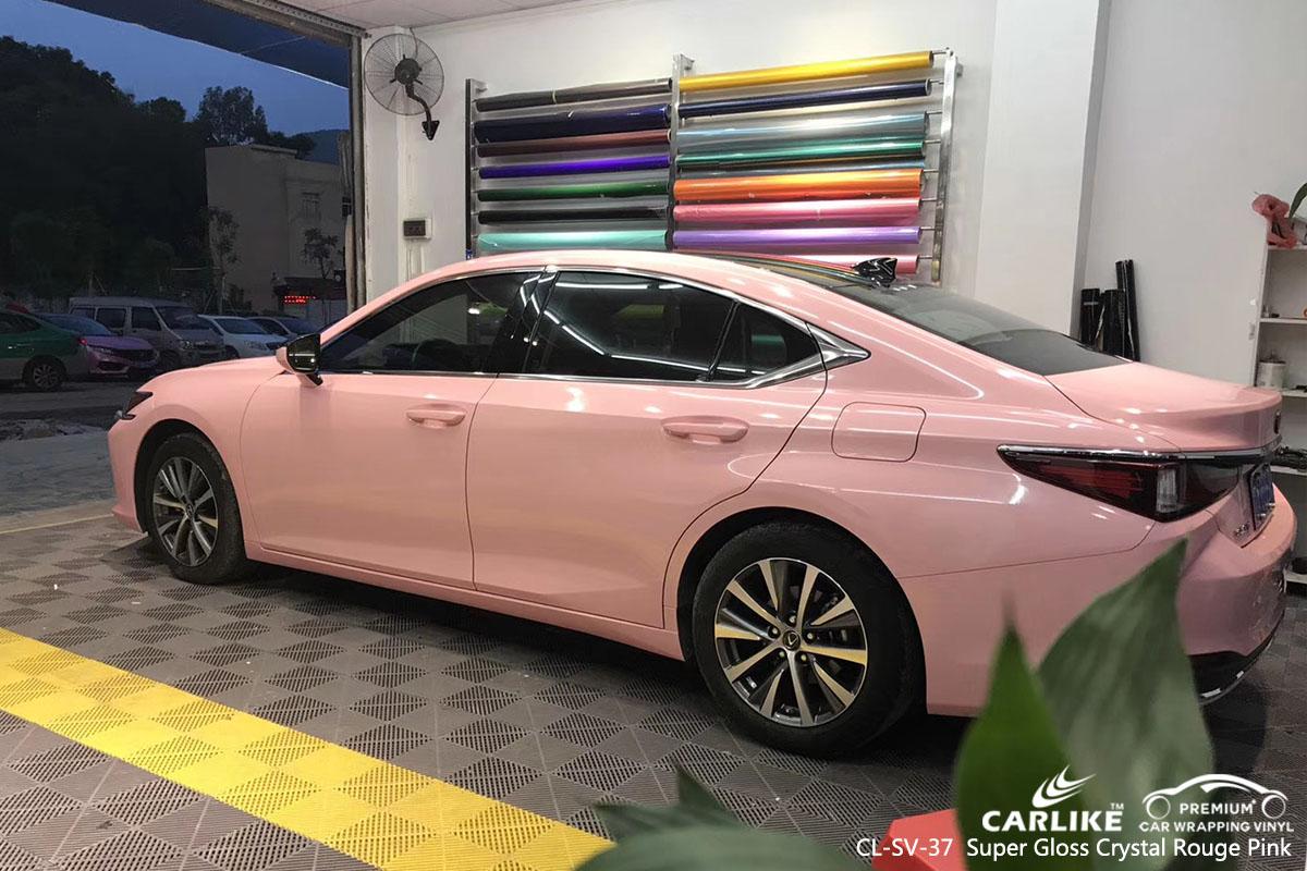 CARLIKE CL-SV-37 super gloss crystal rouge pink car wrap vinyl for Lexus