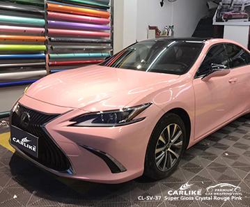 CARLIKE CL-SV-37 vinile dell'involucro di automobile rosa super lucido del cristallo di rouge per Lexus