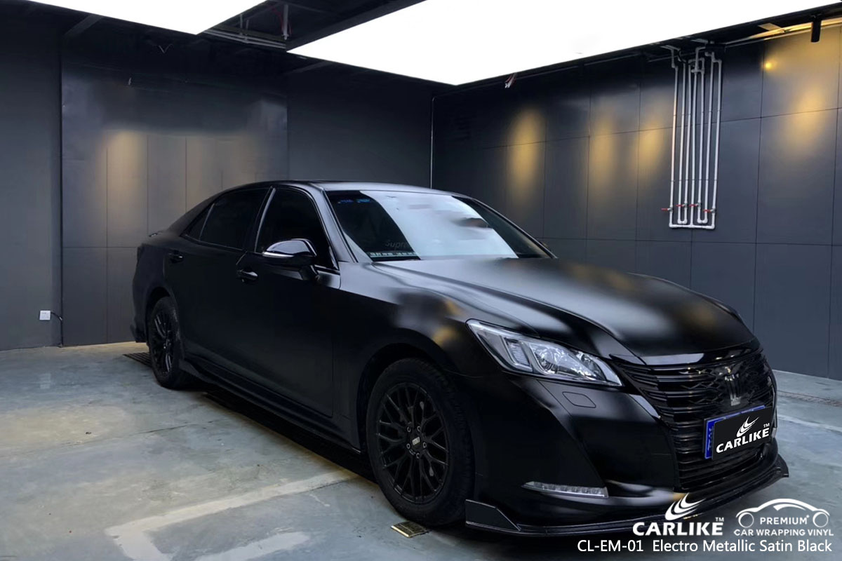 CARLIKE CL-EM-01 Electro Metallic Satin Black car wrap vinyl for Toyota