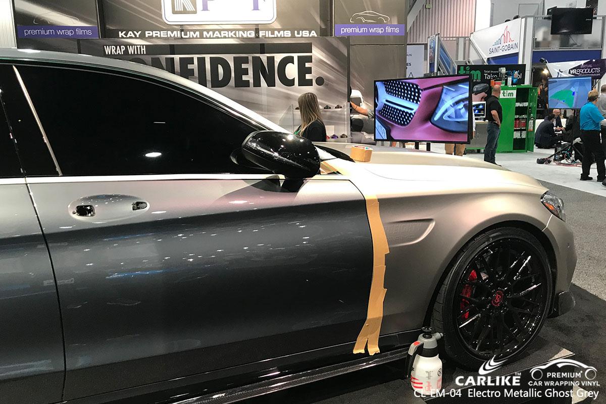 CARLIKE CL-EM-04 Electro Metallic Ghost Grey car wrap vinyl for Porsche