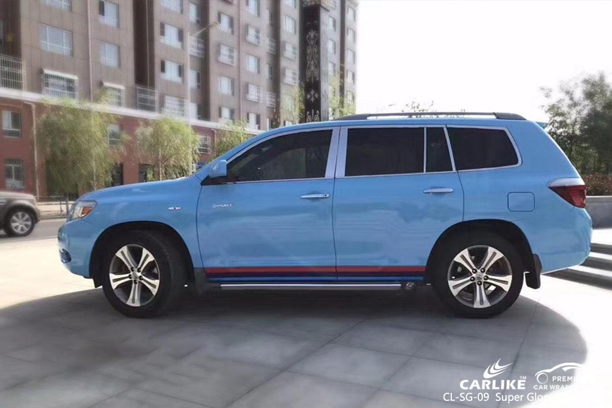 CARLIKE CL-SG-09 Super Gloss Light Blue car wrap vinyl for Toyota