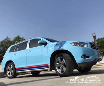 CARLIKE CL-SG-09 super lucido blu chiaro per auto vinile per toyota