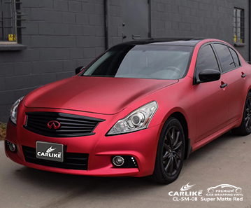 CARLIKE CL-SM-08 Super Matte Red car wrap vinyl for Infiniti