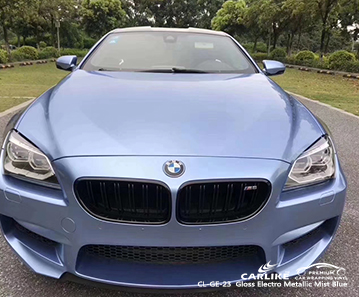 CL-GE-23 Gloss Electro Metallic Mist Blue car wrap vinyl for BMW