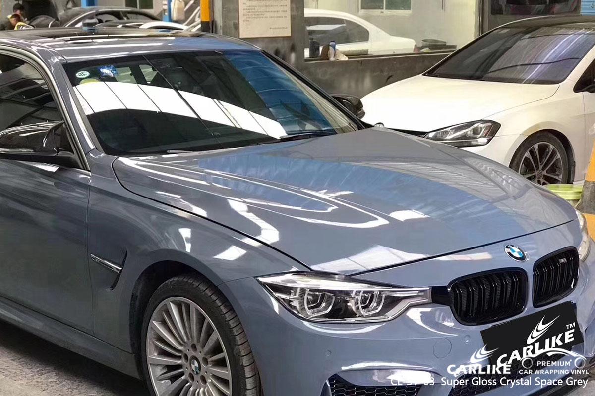 CARLIKE CL-SV-03 Super Gloss Crystal Space Grey car wrap vinyl for BMW