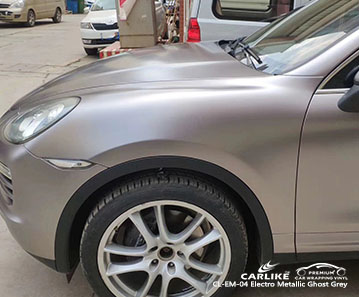 CL-EM-04 Electro Metallic Ghost Grey car wrap vinyl for Porsche