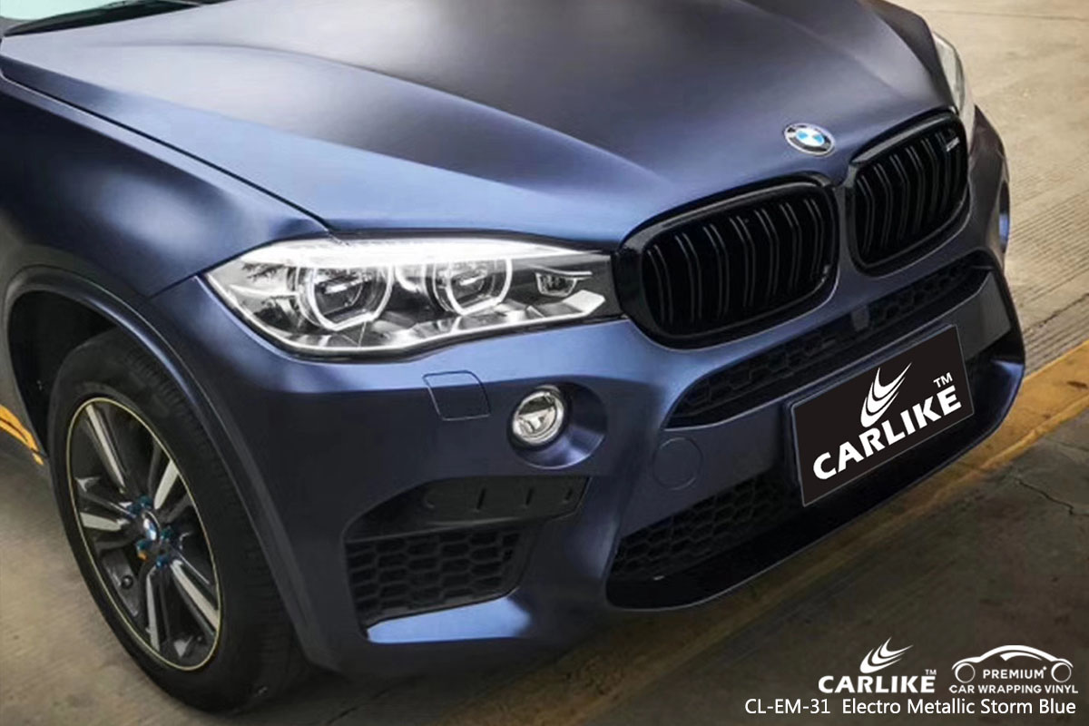 CARLIKE CL-EM-31  Electro Metallic Storm Blue car wrap vinyl for BMW