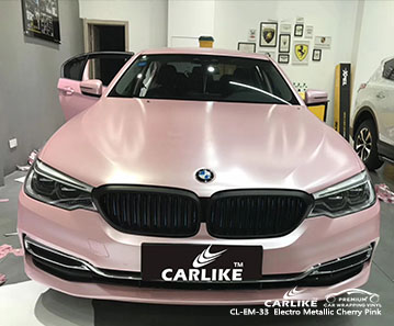 CL-EM-33 Electro Metallic Cherry Pink car wrap vinyl for BMW