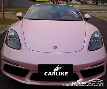 CL-EM-33 Electro Metallic Cherry Pink car wrap vinyl for Porsche