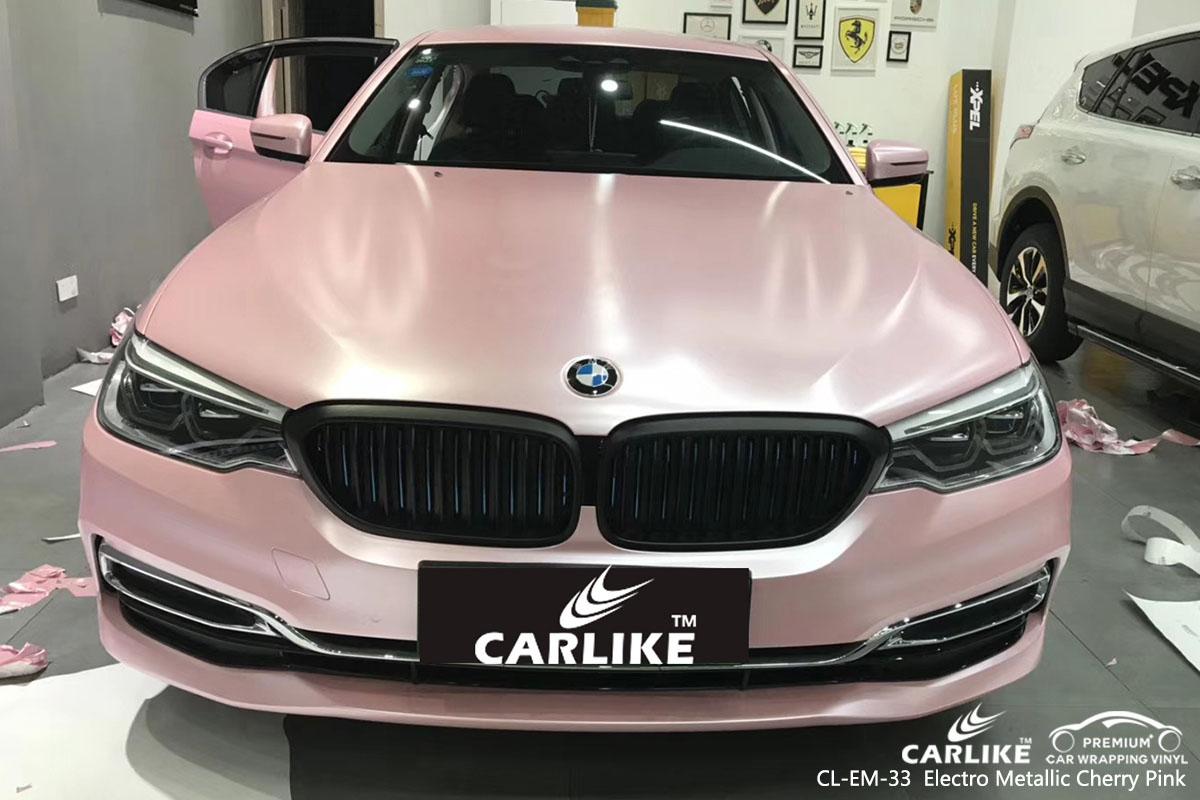 CARLIKE CL-EM-33 Electro Metallic Cherry Pink car wrap vinyl for BMW