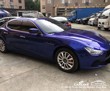 CARLIKE CL-GE-26 Gloss Electro Metallic King Blue car wrap vinyl for Maserati