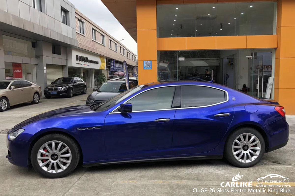 CARLIKE CL-GE-26 Gloss Electro Metallic King Blue car wrap vinyl for Maserati