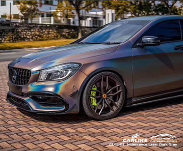 CARLIKE CL-IL-01 Iridescence Laser Dark Grey car wrap vinyl for Benz