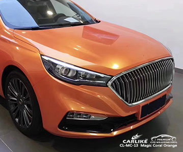 CL-MC-13Magic Coral Orange car wrap vinyl for Hong Qi Sedan