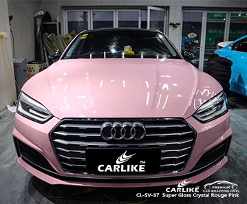 CL-SV-37 Super Gloss Crystal Rouge Pink car wrap vinyl for Audi