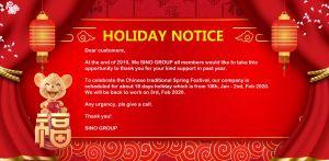 Holiday Notice
