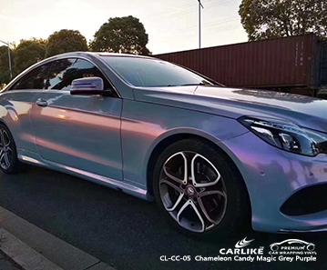 CARLIKE CL-CC-05 Chameleon Candy Magic Grey Purple car wrap vinyl for Benz