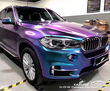 CL-CV-06 Chameleon Gloss Blue to Purple car wrap vinyl for BMW