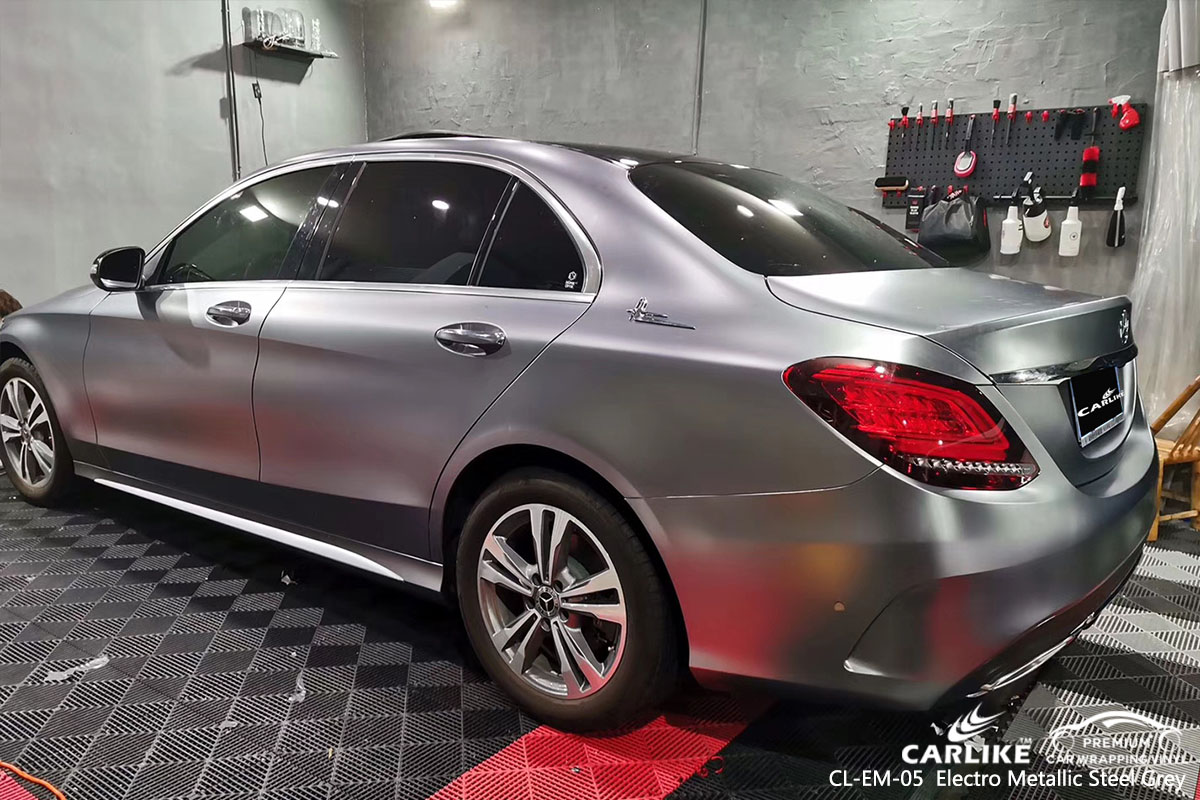 CL-EM-05 Electro Metallic Steel Grey car wrap vinyl for Benz