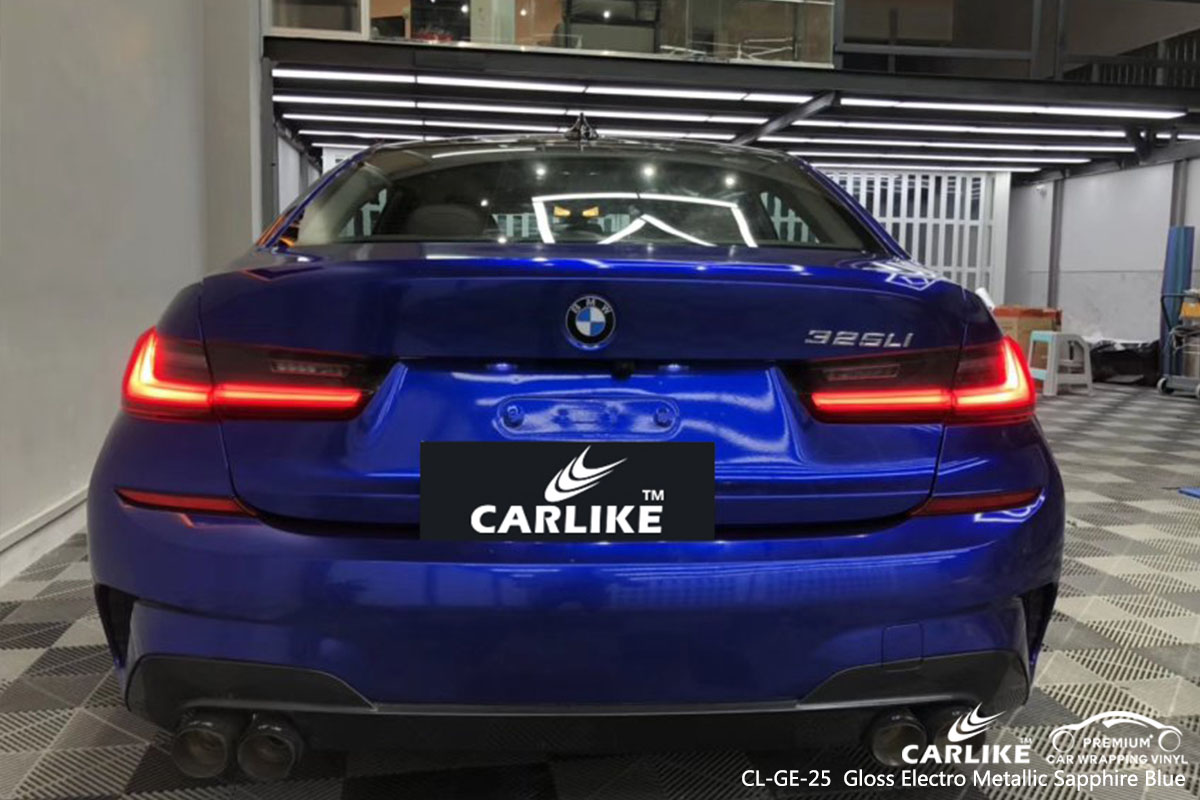 CL-GE-25 Gloss Electro Metallic Sapphire Blue car wrap vinyl for BMW