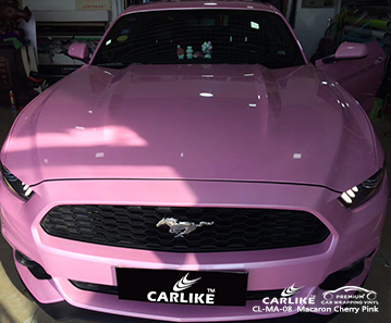 CL-MA-08 Macaron Cherry Pink car wrap vinyl for Mustang