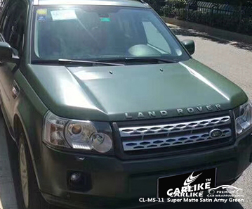 CARLIKE CL-MS-11 Super Matte Satin Army Green car wrap vinyl for Rover