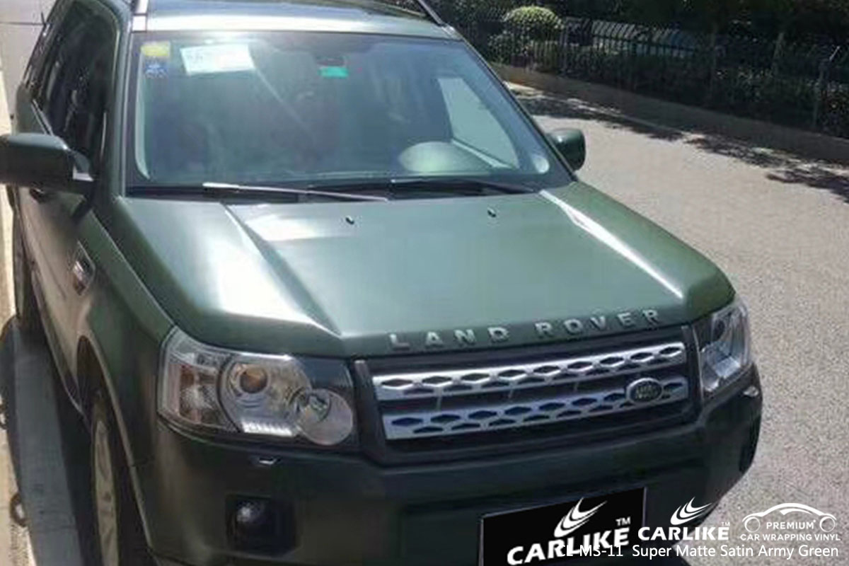 CL-MS-11 Super Matte Satin Army Green car wrap vinyl for Rover