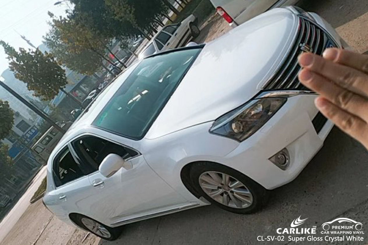 CARLIKE CL-SV-02 Super Gloss Crystal White car wrap vinyl for Toyota