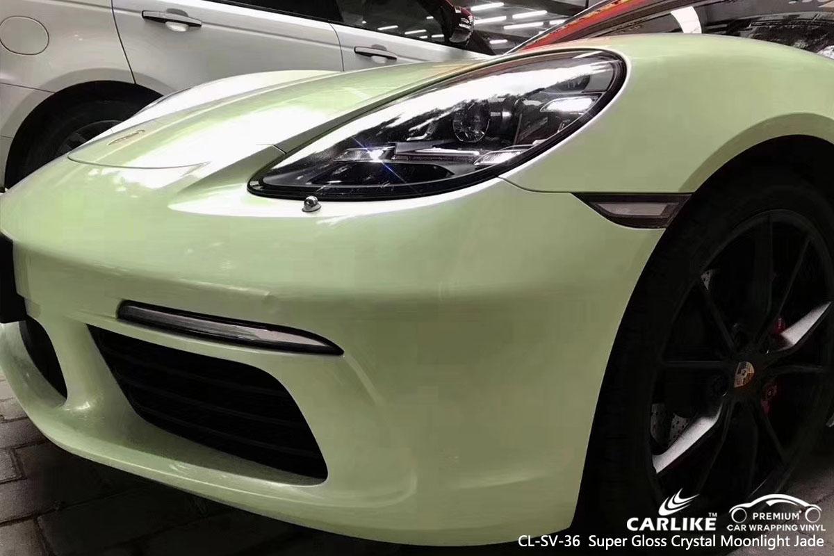 CL-SV-36  Super Gloss Crystal Moonlight Jade car wrap vinyl for Porsche