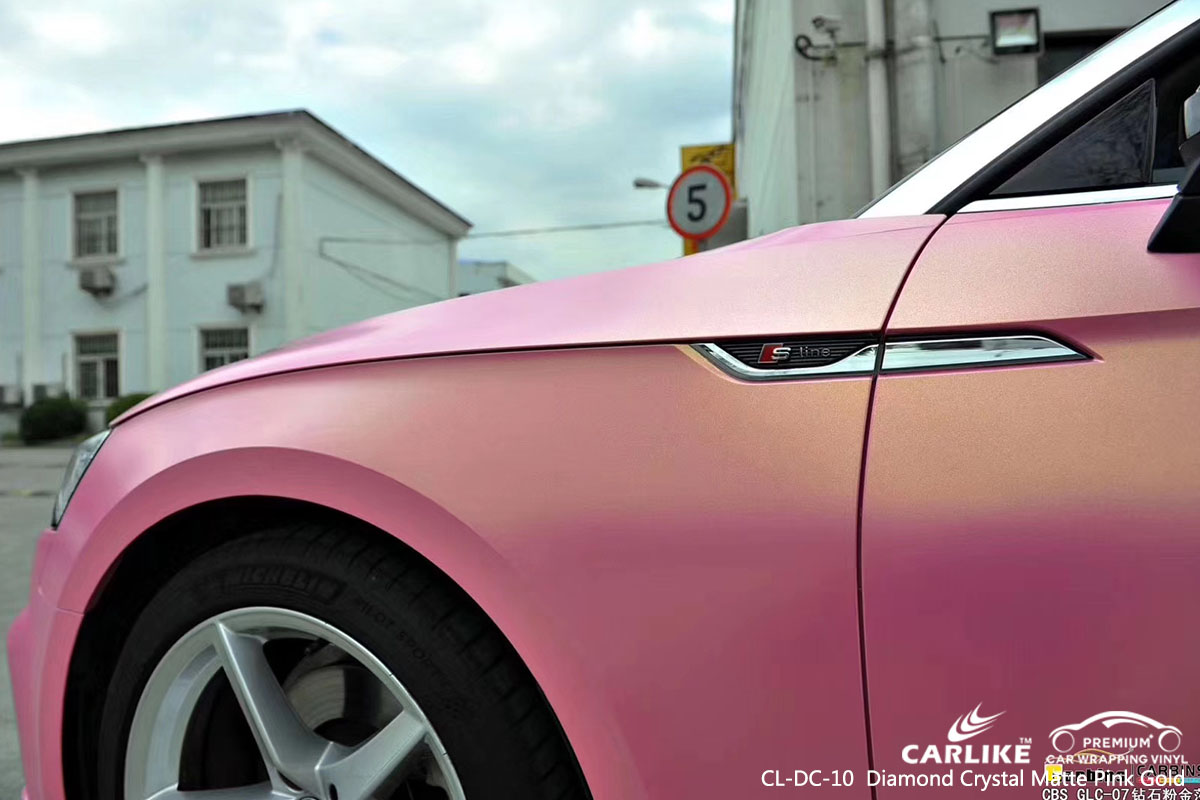 CCL-DC-10 Diamond Crystal Matte Pink Gold car wrap vinyl for AudiCL-DC-10 Diamond Crystal Matte Pink Gold car wrap vinyl for Aud
