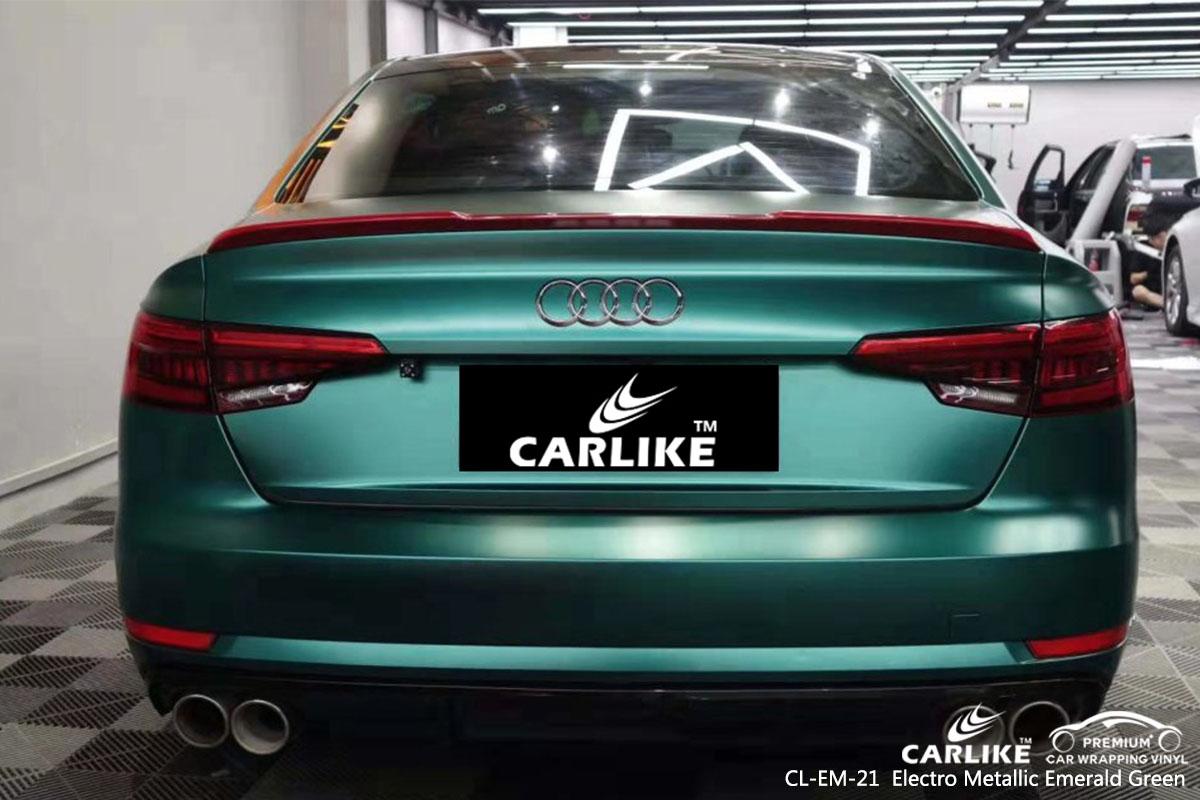 CL-EM-21 Electro Metallic Emerald Green car wrap vinyl for Audi