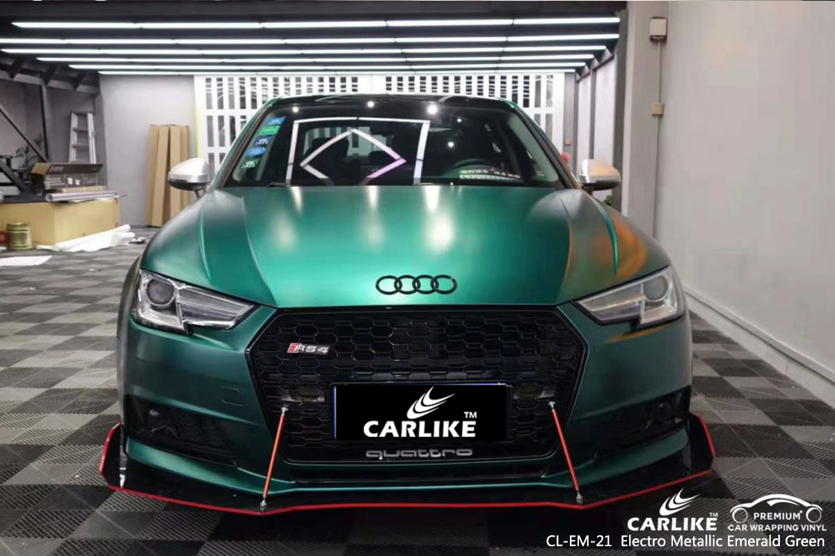 CL-EM-21 Electro Metallic Emerald Green car wrap vinyl for Audi