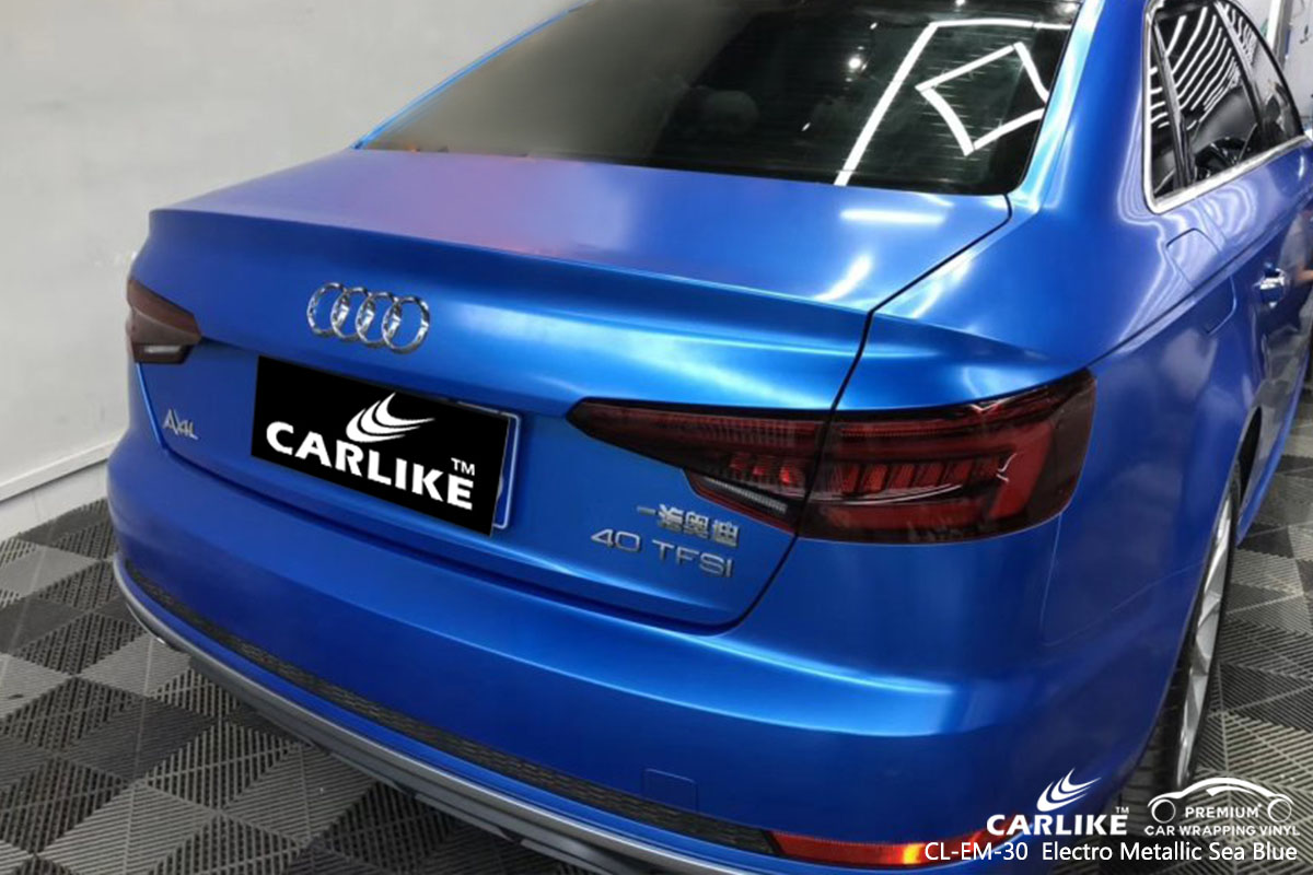 CL-EM-30 Electro Metallic Sea Blue car wrap vinyl for Audi