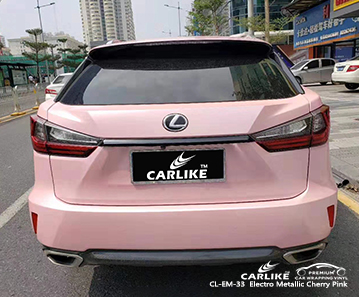 CL-EM-33 Electro Metallic Cherry Pink car wrap vinyl for Lexus