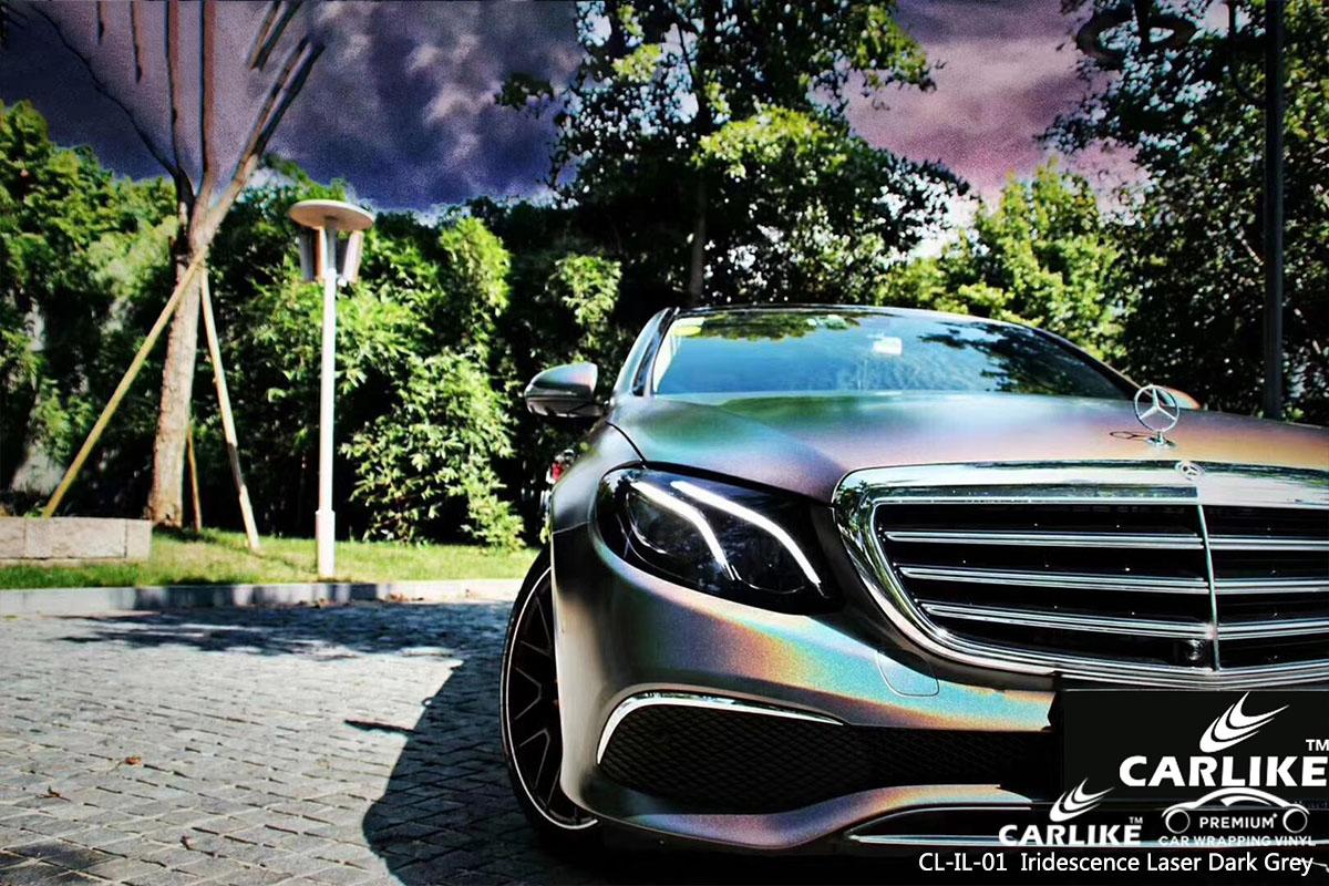 CL-IL-01 Iridescence Laser Dark Grey car wrap vinyl for Benz