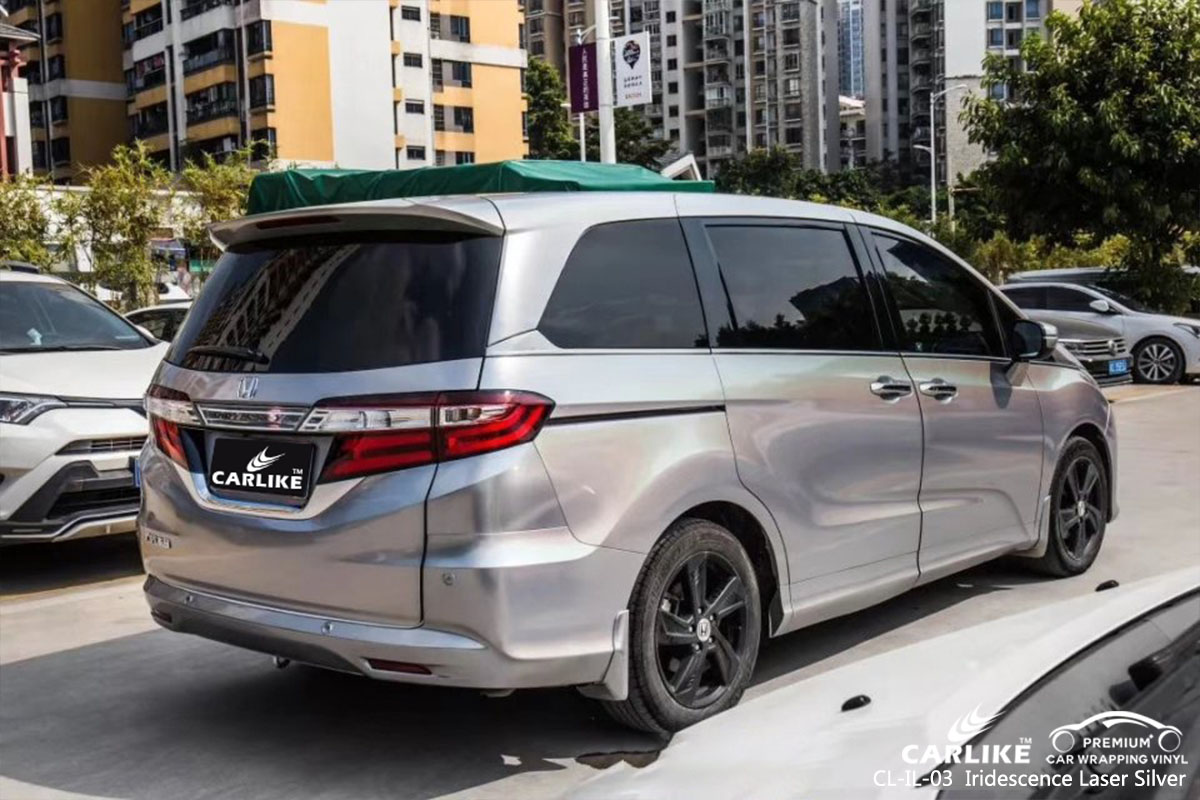 CL-IL-03 Iridescence Laser Silver car wrap vinyl for Honda