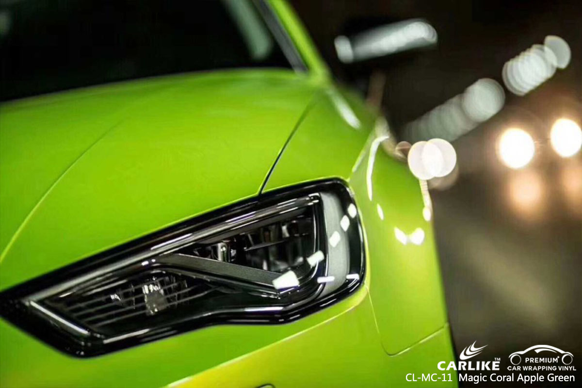 CL-MC-11 Magic Coral Apple Green car wrap vinyl for Audi