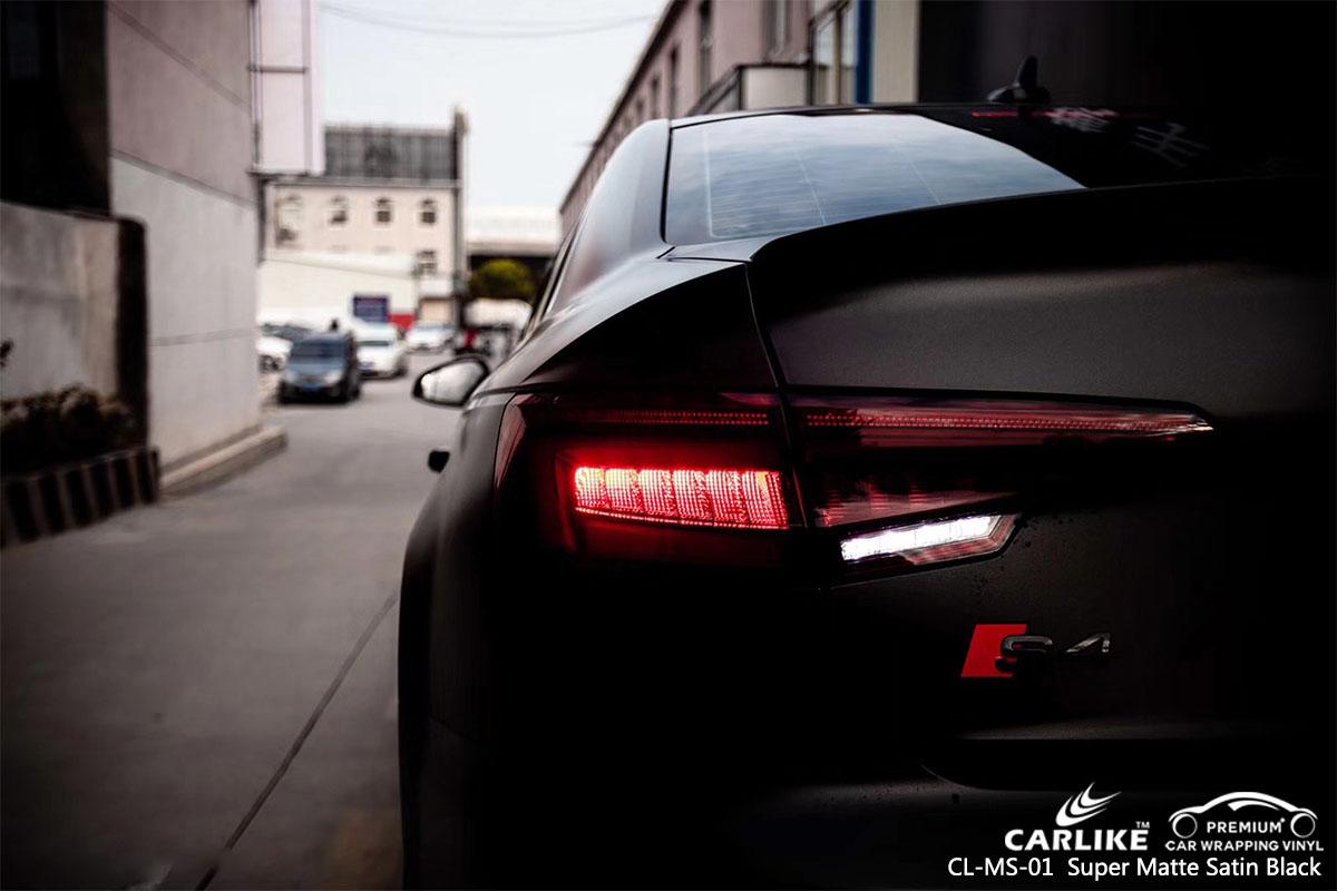 CL-MS-01 Super Matte Satin Black car wrap vinyl for Audid
