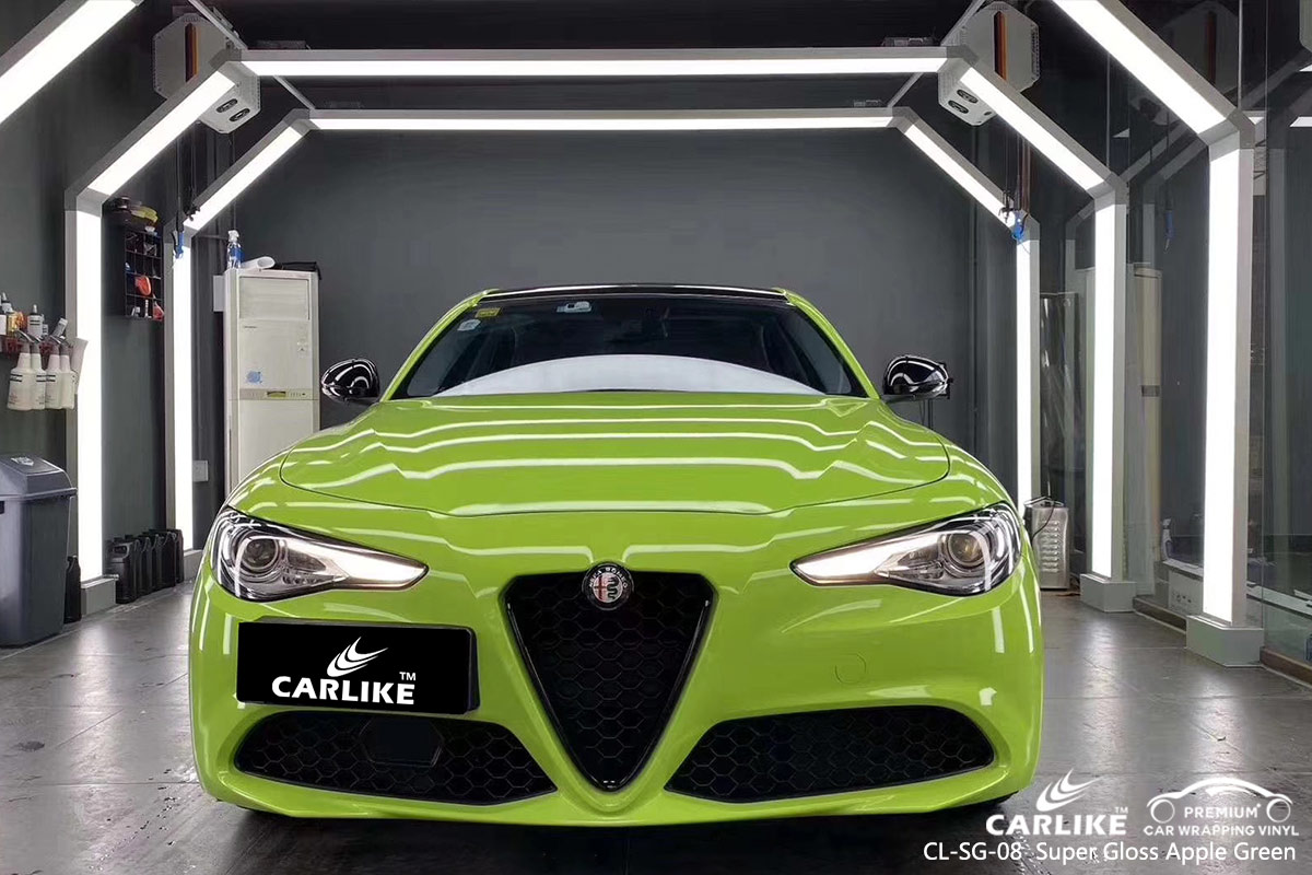 CL-SG-08 Super Gloss Apple Green car wrap vinyl for Alphad