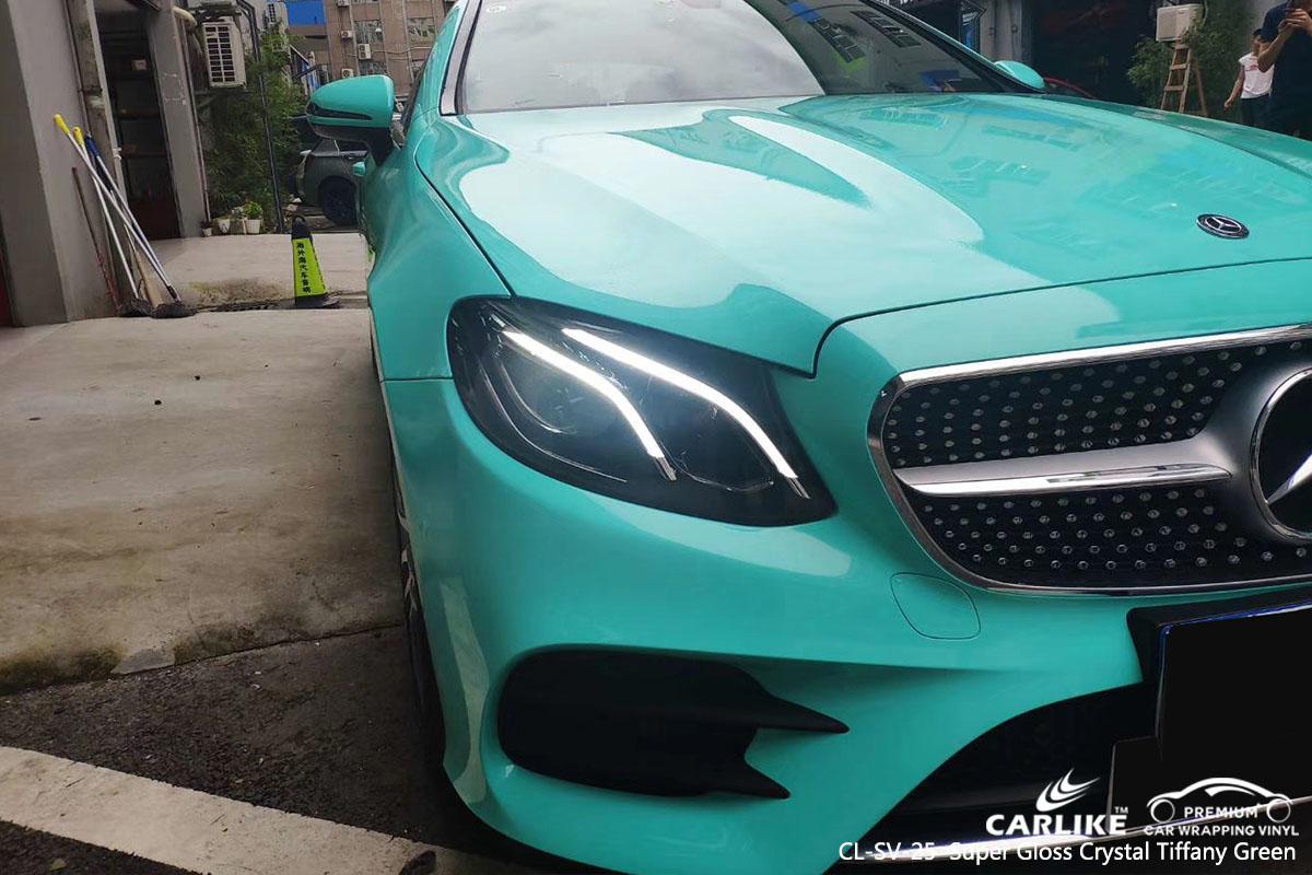 CL-SV-25 Super Gloss Crystal Tiffany Green car wrap vinyl for Benzd