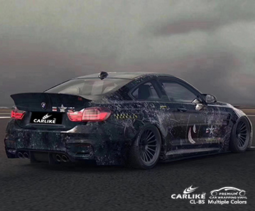 CL-BS-1 Printed Camouflage car wrap vinyl for BMW