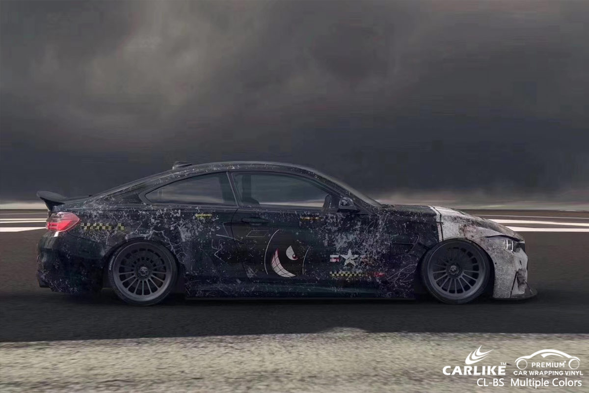 CL-BS Printed Bomb Sticker car wrap vinyl for BMW
