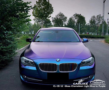 CL-CE-12 Gloss Chameleon Light Blue to Purple car wrap vinylfor BMW