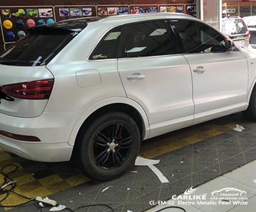 CL-EM-02 Electro Metallic Pearl White car wrap vinyl for Audi