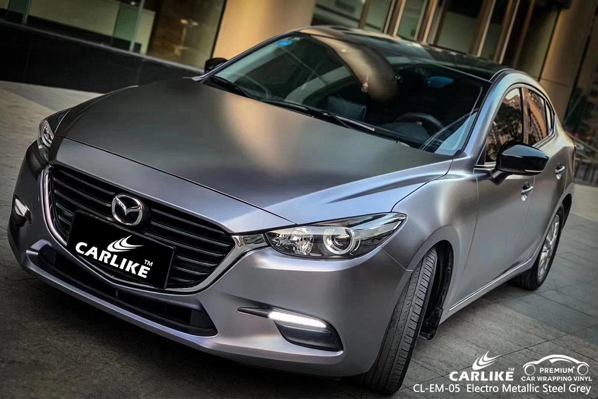 CL-EM-05 Electro Metallic Steel Grey car wrap vinyl for Mazda