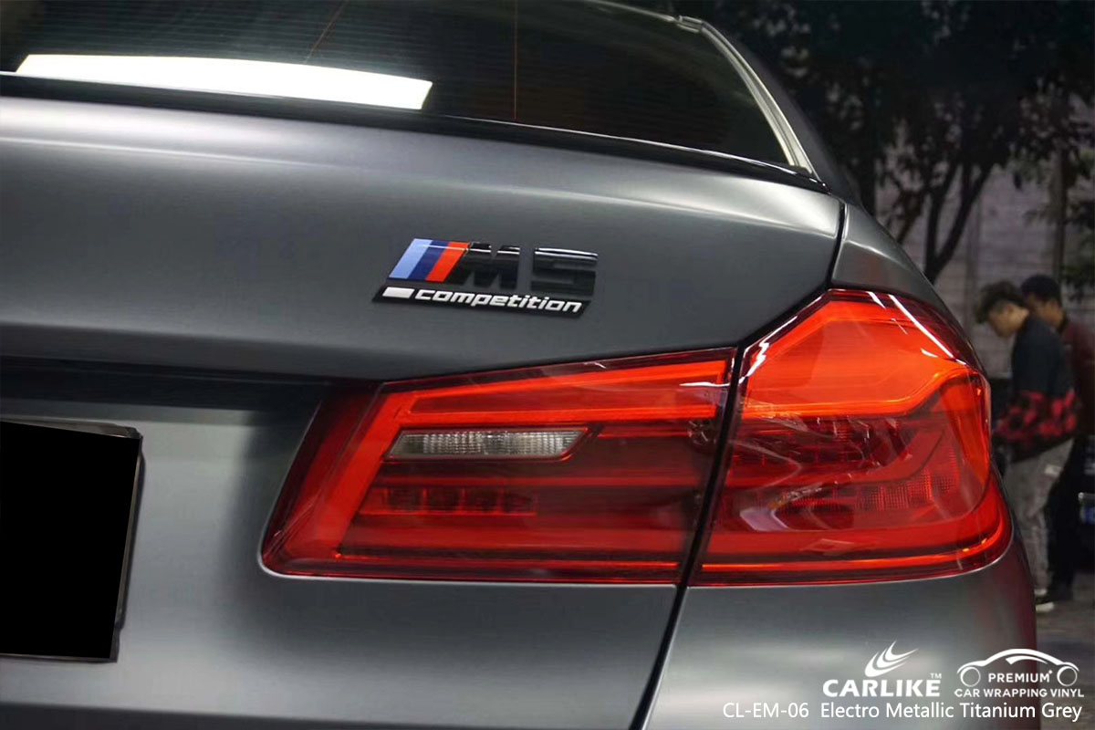 CL-EM-06 Electro Metallic Titanium Grey car wrap vinyl for BMW