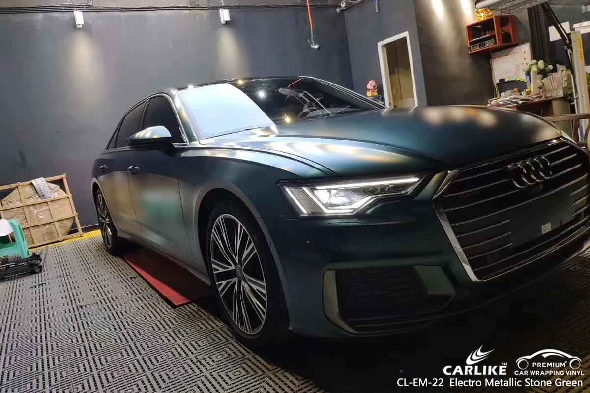 CL-EM-22 Electro Metallic Stone Green car wrap vinyl for Audi