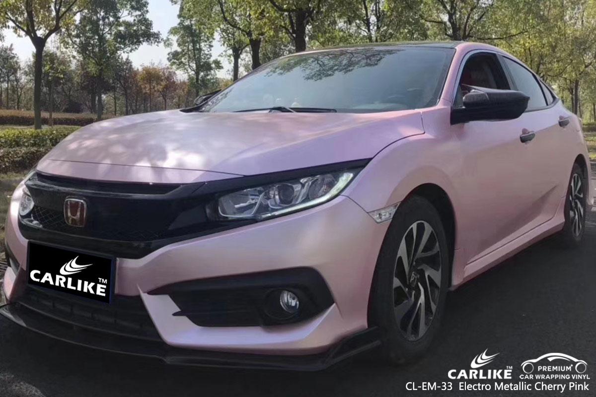 CL-EM-33 Electro Metallic Cherry Pink car wrap vinyl for Honda