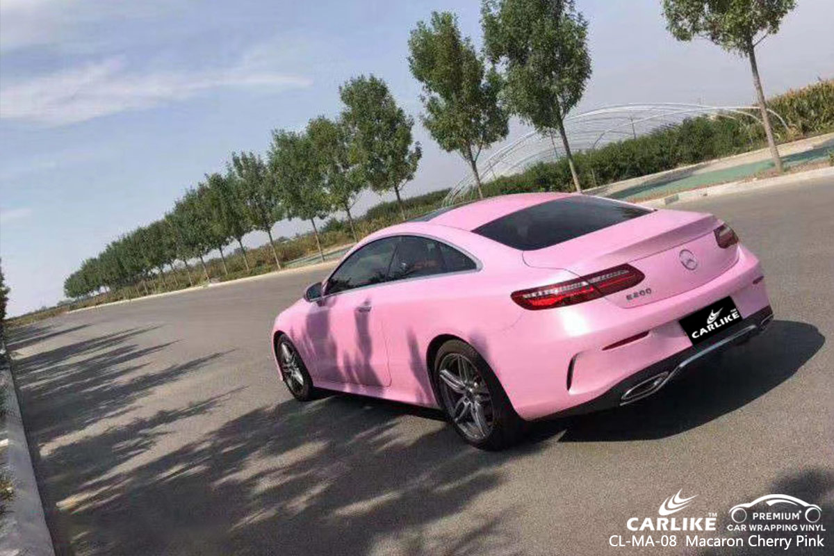 CL-MA-08 Macaron Cherry Pink car wrap vinyl for Benz