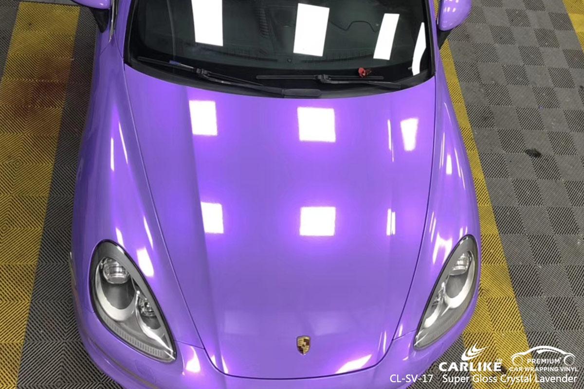 CL-SV-17 Super Gloss Crystal Lavender car wrap vinyl for Porsche